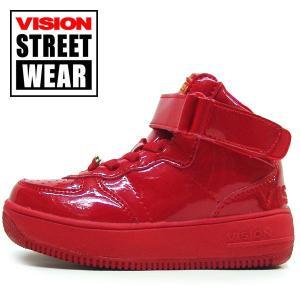 16cm 19cm 子供 VISION STREET WEAR  キッズ スニーカー ヴィジョンマディソン ハイ エナメルダンス|suxel