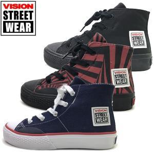 新作 ヴィジョン VISION STREET WEAR  キッズ ジュニア スニーカー CANVAS HI Jr.  子供靴 19-23cm|suxel