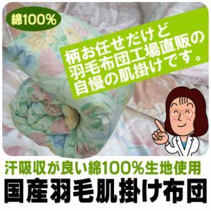(日本製羽毛肌掛け布団)ダウンケット シングルサイズ150×210cm 余りの安さの為、柄はお任せです。 (dk)(肌掛け 夏 シングル用 無地 寝具 収納 羽毛布団 肌掛け suyasuya