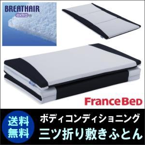 フランスベッドと東洋紡の 共同開発。ベッドでも床に敷いても使える 3分割折りたたみ式敷きふとん シン...