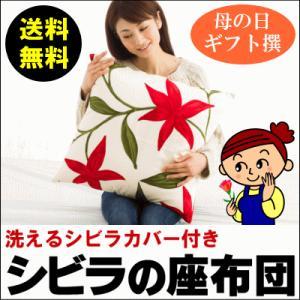 シビラの座布団 55×59cm(銘仙判) カバー取外し可能 便利で洗えるカバータイプです ラッピング無料(座布団 無地系 ふとん 寝具) suyasuya