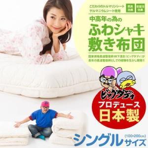 (日本製)ビッグダディプロデュース ふわシャキ敷き布団 100×200cm(シングルサイズ)|suyasuya