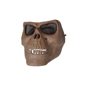 【商品名】 フェイスマスク スカルフェイスガード鬼の顔 サンドベージュ K-180