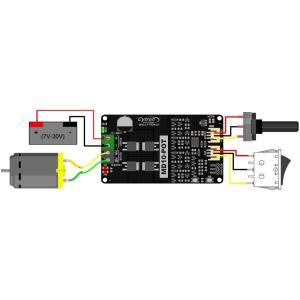 Cytron 10A DCモータドライバ 可変抵抗&スイッチ制御式 suzakulab 08
