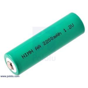 Pololu Ni-MH充電池 単3電池 1.2V 2200mAh 単セル|suzakulab