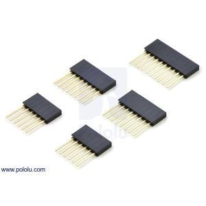 Pololu 0.1インチ (2.54 mm) 積層メスヘッダセット(Arduinoシールド用)|suzakulab