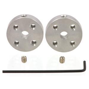 Pololu アルミ製ユニバーサルマウントハブ 4mm軸用 ネジ穴#4-40UNC(ユニファイネジ) 2個入り|suzakulab