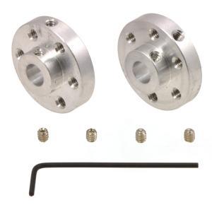 Pololu アルミ製ユニバーサルマウントハブ 6mm軸用 ネジ穴#4-40UNC(ユニファイネジ) 2個入り|suzakulab