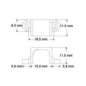 Pololu 金属マイクロギヤードモータ ブラケット ホワイト 2個入り suzakulab 04
