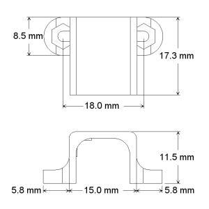 Pololu 金属マイクロギヤードモータ 拡張ブラケット 2個入り|suzakulab|04