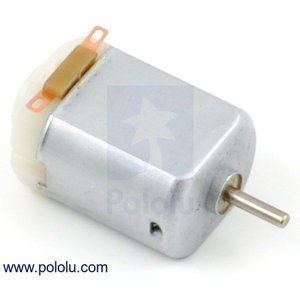 Pololu DCブラシモータ 130サイズ 6V 11.5kRPM 停動時800mA|suzakulab