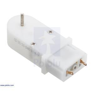 Pololu 120:1 ミニプラスチックギヤモータ 90° 2mm スプライン出力 在庫品|suzakulab
