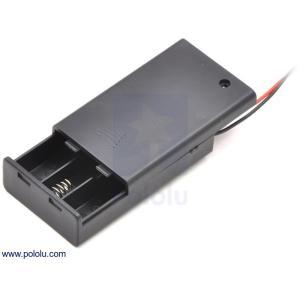 Pololu 電池ボックス 単4x3本 (フタ・スイッチ付き)|suzakulab