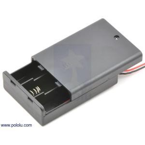 Pololu 電池ボックス 単3x3本 (フタ・スイッチ付き)|suzakulab