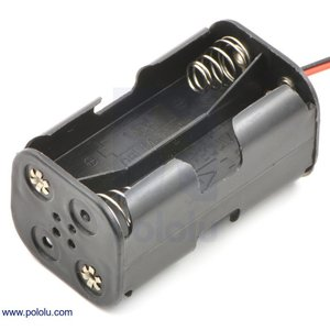 Pololu 電池ボックス 単3x4本 (両面)|suzakulab