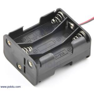Pololu 電池ボックス 単3x6本 (両面)|suzakulab