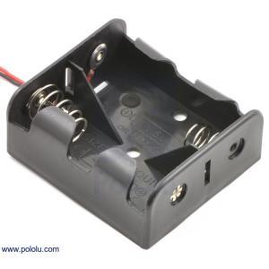 Pololu 電池ボックス 単2x2本|suzakulab