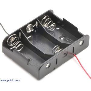 Pololu 電池ボックス 単2x3本|suzakulab