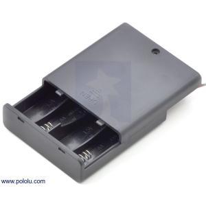 Pololu 電池ボックス 単3x4本 (フタ・スイッチ付き)|suzakulab