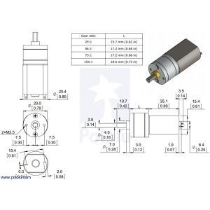 Pololu 29:1 金属ギヤードモータ 20Dx41L mm|suzakulab|03