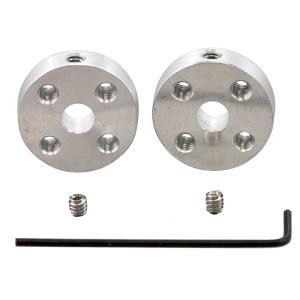 Pololu アルミ製ユニバーサルマウントハブ 5mm軸用 ネジ穴#4-40 2個入り|suzakulab