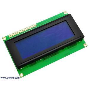 Pololu LCDキャラクタディスプレイ 20x4行 (パラレル通信) LEDバックライト 青色 白字|suzakulab
