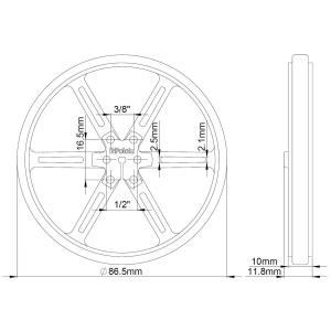 Pololu ホイール 90×10mm レッド 2個入り|suzakulab|02