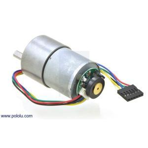 Pololu 19:1 金属ギヤードモータ 37Dx52L mm 64 CPRエンコーダ付き|suzakulab