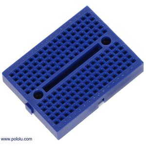 Pololu ブレッドボード 17行 170点 47x35mm 青|suzakulab