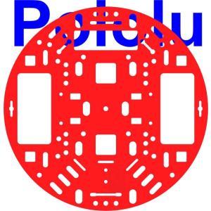 Pololu 127mm ロボットシャーシ RRC04A レッド|suzakulab