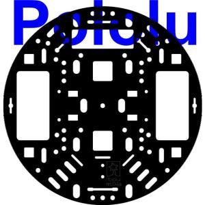 Pololu 127mm ロボットシャーシ RRC04A ブラック|suzakulab