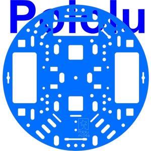 Pololu 127mm ロボットシャーシ RRC04A ライトブルー|suzakulab