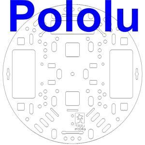 Pololu 127mm ロボットシャーシ RRC04A クリア|suzakulab
