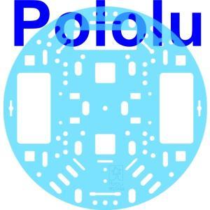 Pololu 127mm ロボットシャーシ RRC04A クリアライトブルー|suzakulab