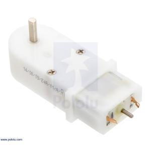 Pololu 120:1 ミニプラスチックギヤードモータ 90° 3mm D軸出力 両軸仕様 在庫品|suzakulab