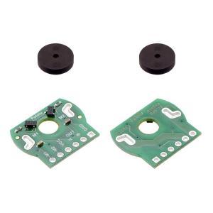 Pololu ミニプラスチックギヤードモータ用磁気エンコーダペアキット 12 CPR; 2.7-18V|suzakulab