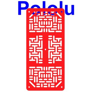 Pololu RP5/Rover 5 拡張プレート RRC07A (幅狭) レッド suzakulab