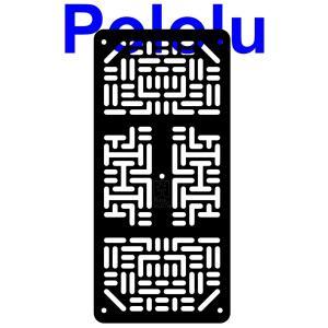 Pololu RP5/Rover 5 拡張プレート RRC07A (幅狭) ブラック suzakulab