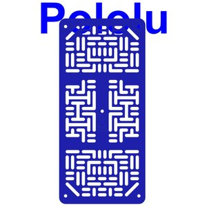 Pololu RP5/Rover 5 拡張プレート RRC07A (幅狭) ブルー suzakulab