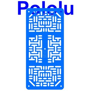 Pololu RP5/Rover 5 拡張プレート RRC07A (幅狭) ライトブルー suzakulab