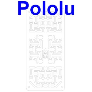 Pololu RP5/Rover 5 拡張プレート RRC07A (幅狭) クリア suzakulab