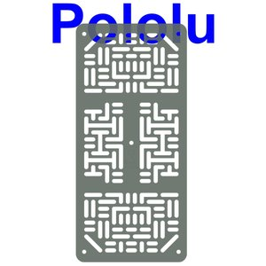 Pololu RP5/Rover 5 拡張プレート RRC07A (幅狭) クリアグレー|suzakulab