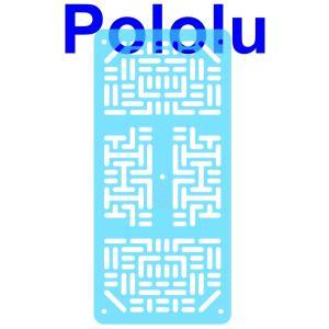 Pololu RP5/Rover 5 拡張プレート RRC07A (幅狭) クリアライドブルー|suzakulab