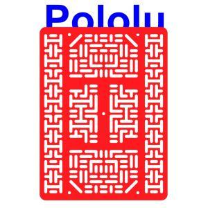 Pololu RP5/Rover 5 拡張プレート RRC07B (幅広) レッド|suzakulab