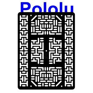 Pololu RP5/Rover 5 拡張プレート RRC07B (幅広) ブラック suzakulab