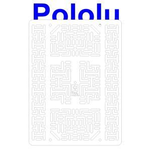 Pololu RP5/Rover 5 拡張プレート RRC07B (幅広) ホワイト suzakulab