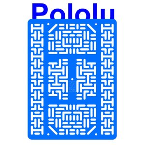 Pololu RP5/Rover 5 拡張プレート RRC07B (幅広) ライトブルー suzakulab