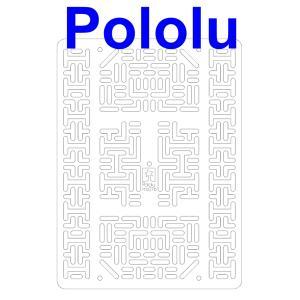 Pololu RP5/Rover 5 拡張プレート RRC07B (幅広) クリア suzakulab