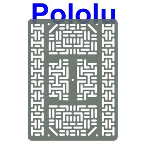 Pololu RP5/Rover 5 拡張プレート RRC07B (幅広) クリアグレー suzakulab