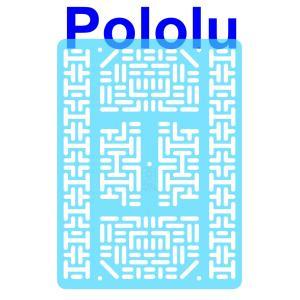 Pololu RP5/Rover 5 拡張プレート RRC07B (幅広) クリアライトブルー suzakulab